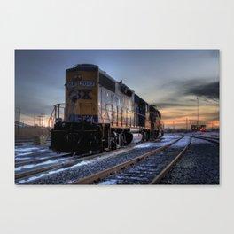 CSX Sunset Canvas Print
