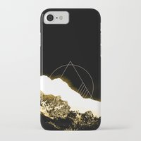 snowboard iPhone & iPod Cases featuring Golden Mountain by Schwebewesen • Romina Lutz