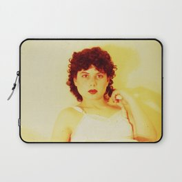 bright red lips Laptop Sleeve