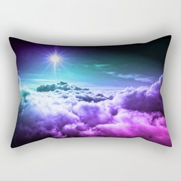 Cool Tone Ombre Clouds Rectangular Pillow