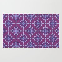 fleur de lis Area & Throw Rugs featuring Fleur de Lis - Purple by Dizana Designs