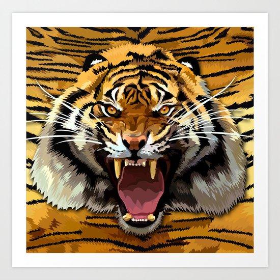 Tiger Roar iPhone 4 4s 5 5c 6, pillow case, mugs and tshirt Art Print