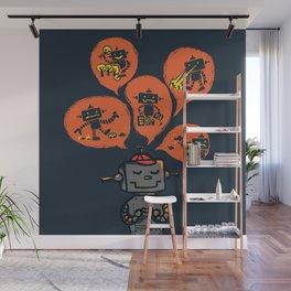 When I grow up - an evil robot dream Wall Mural
