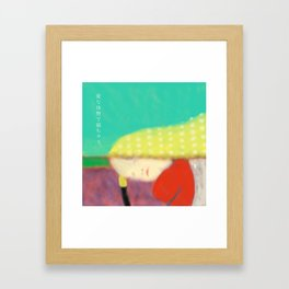 Sleeping with the spring wind Framed Art Print