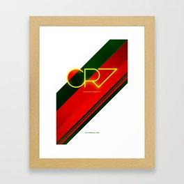 CR7 Framed Art Print
