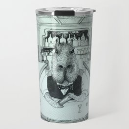 Capybaras having good time at the bar Travel Mug