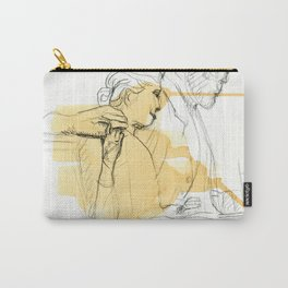 Sir reading to a girl sculpture sketch Carry-All Pouch