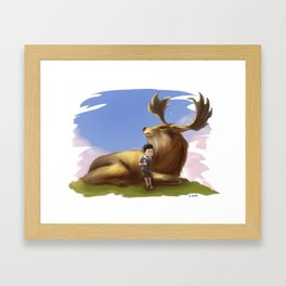 DeerBoy Framed Art Print