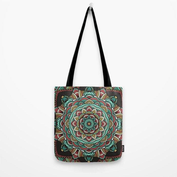 Colored mandala Tote Bag