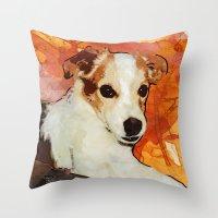 merlin Throw Pillows featuring Merlin by © maya lavda / wocado