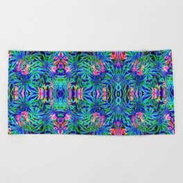 Vaporwave Palms #1 Beach Towel