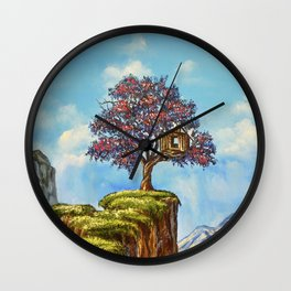 Live On The Edge Wall Clock