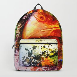 Harris Hawk Pop Art  Backpack