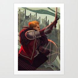 Knight of pentacles Art Print