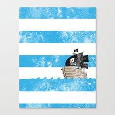 Pirates Love Stripes Canvas Print