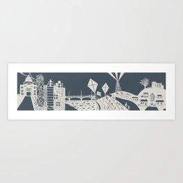 Austin, Texas Paper-cut Art Print