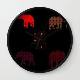 Five Elephants version1 Wall Clock