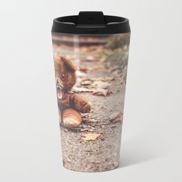 Scary Teddy Bear Metal Travel Mug
