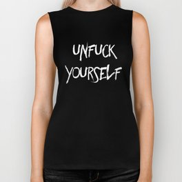 Unfuck yourself (inverse edition) Biker Tank