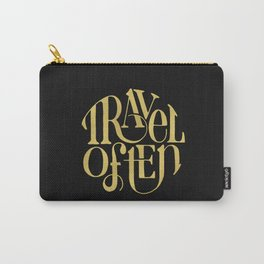 Travel in Gold Carry-All Pouch