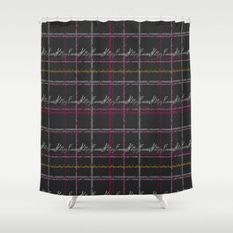 Feminist Killjoy Tartan Text Print Shower Curtain