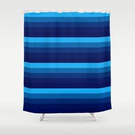 Blue stripes Shower Curtain