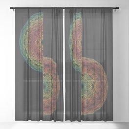 Fractal Horizon Sheer Curtain