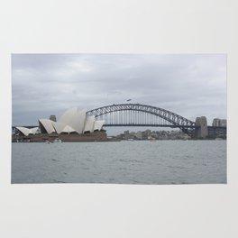 Sydney Opera House and Harbour Bridge Rug