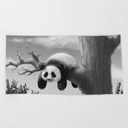 Hang In There, Panda! Beach Towel