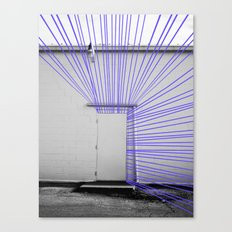 White Door, Blurple Prism Canvas Print