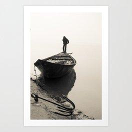 Bengali River Boat Art Print