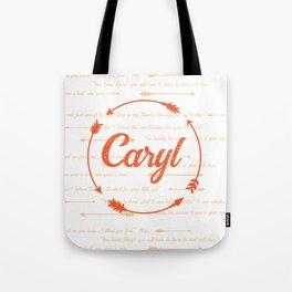 Caryl Love_orange Tote Bag