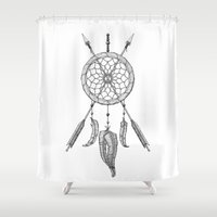 dreamcatcher Shower Curtains featuring DreamCatcher by BROX