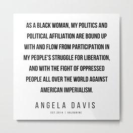 28    |  Angela Davis | Angela Davis Quotes |200609 Metal Print