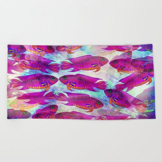 Sea Of Fish Beach Towel