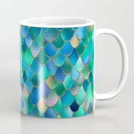 Summer Ocean Metal Mermaid Scales Coffee Mug