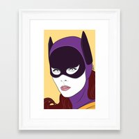 60s Framed Art Prints featuring 60s Batgirl by Patrick Scullin