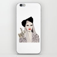 bow iPhone & iPod Skins featuring Bow by Melania B