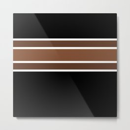 TEAM COLORS 2.....brown,black and white Metal Print