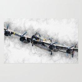 Lancaster Bomber Sketch Rug