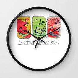 La Croix Before Boys Wall Clock