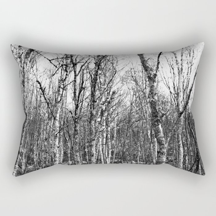 Silver Birches Rectangular Pillow