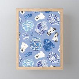 Chinoiserie Curiosity Cabinet Toss 7 Framed Mini Art Print