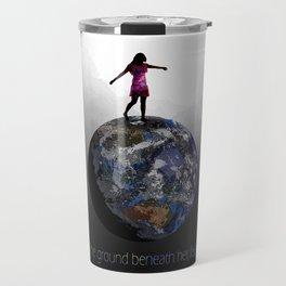 the ground beneath her feet Travel Mug