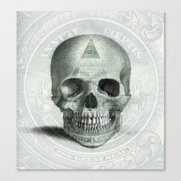 Eye on the Skull Canvas Print
