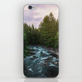 PNW River Run II - Pacific Northwest Nature Photography iPhone Skin