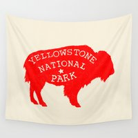 the national Wall Tapestries featuring Yellowstone National Park  by Terry Fan