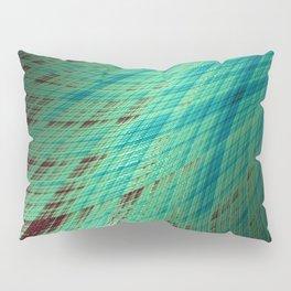 Run Off - Teal and Brown - Fractal Art Pillow Sham