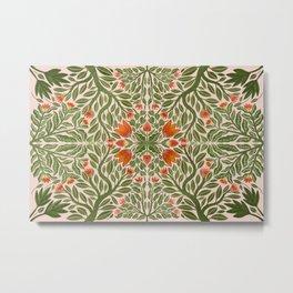Folk Inspired Florals Metal Print