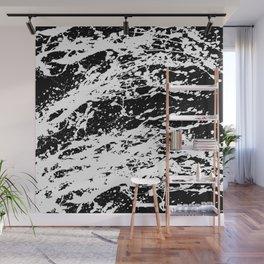 Black and White Paint Splatter Wall Mural
